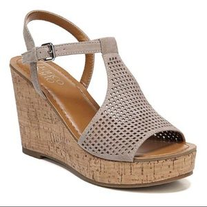 Franco Sarto Clinton 2 Open Toe Cork Wedge Sandal